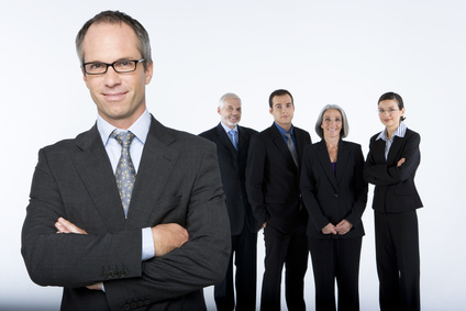 Project manager and his team